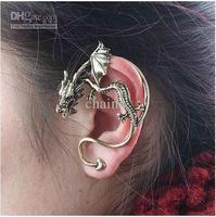 Gothic Punk Style Stud Fashion Retro Ear Cuff Stud Cool Dragon Ear Rings High Quality
