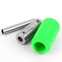 1pcs Brand New Green Silicone Soft Handle Gun Grip Tube Back Stem Rubber Tattoo Machine