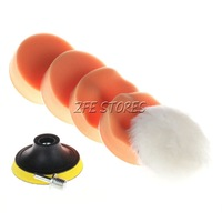 "6pcs High Gross 75mm 3"" Polishing Buffing Pad Kit for Car Polishing Buffer"