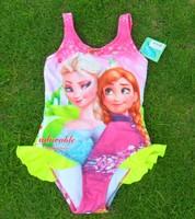 Frozen Swimsuit for girls UV protection swimwear children bathing suits kids one piece swim suits frozen dress