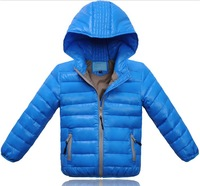 2014 Winter New Children Outerwear Solid Thickening Boy and girl Down coat Kids winter Hooded Down Jacket