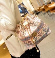 2014 NEW bolsos bags handbags women famous brands bucket bag drawstring chain-strap bag women messenger bag printed desigual