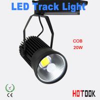 20W COB led track light clothing store tracking spot lighting high bright for shopping center 85V~265V CE ROHS Warranty 2 year