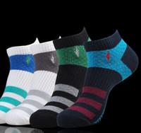 20 PCS = 10 Pairs Hjc Summer New Polo Socks Men Slippers Sock High Quality Brand Stitching 100%Cotton Men's socks Free Shipping