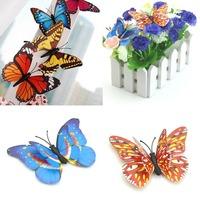 2013 Hot sell! 12pcs Butterfly Flower Refrigerator/Fridge/Art Wall Stickers / Wall Decals /House decor