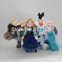 Frozen Toys 30cm Reindeer Frozen Sven 30cm Frozen Olaf 24cm Anna and Elsa Stuffed Plush Doll 4pcs/set