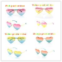 Hot!4 colors available two-color Gradient Heart Shaped Sunglasses  Vintage Sunglasses Women Glasses Hot