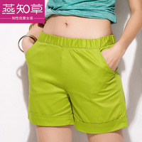 Hottest! women's candy color shorts 100% cotton plus size outdoor sports casual female trousers fashion capris