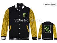 Free drop shipping New Men's Ghost plus thick velvet leather long-sleeved Varsity jackets baseball coat cardigan Sweatshirts