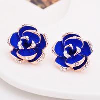 perolas Camellia drip spiral earring acupuncture max brincos