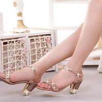 Summer new arrival 2014 her sandals female fashion rhinestone white collar sandals sheepskin women's shoes