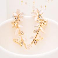 clip on earrings for women opal earrings female flowers without pierced ears unilateral ear bone folder earring jackets