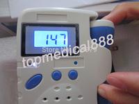Prenatal Fetal Doppler LCD Screen Backlight Built-in Speaker Baby Pocket Heart Rate Monitor 2Mhz Probe Pregnancy 3 pcs/lot