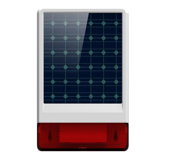 Free Shipping Wolf Guard Waterproof Wireless Outdoor big strobe Solar powered Siren Alarm LED flashing response sound 130 dB(China (Mainland))