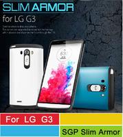 A+++ Quality SGP SPIGEN Slim Armor Cases For LG Optimus G3 D858 Mobile Phone Bag With Retail Package 13 Colors Wholesale 50pcs/l
