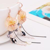earring handmade tassels Flower earrings bijoux