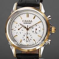 2014 Luxury Lady Russia Slava Clock Automatic self-wind Mechanical Classic Multifunction Cjiaba Leather Gift Women Wrist Watch