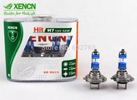 Free Shipping XENCN H7 4300K 12V 55W Silver Cap Car Xenon White Bulbs UV Lamp Stylish Look Halogen OEM High Low Beam Headlights