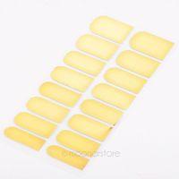 2014 Golden Black Silver New 16pcs Foil Set Nail Art Sticker Gel Nail Patch Manicure Set  ZMHM024