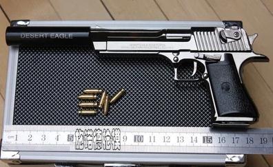 Completando el Equipo 1-2-5-metal-de-alta-simulação-fuzil-Silencer-Ver-Desert-Eagle-gun-com-supressor-de