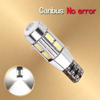 2pcs led t10 canbus,10 led SIGNAL BULB t10 SMD5630 LENS FREE ERROR ,Auto Indicator T10,168 501 LED BULB CANBUS W5W LED