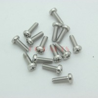 30PCS M3*9mm 304 Stainless Steel Pan Head Philip Recess Screw Nut Bolt Fastener