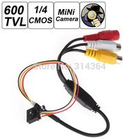 "600TVL 1 / 4"" HD Smallest Mini Camera Pinhole CCTV Camera Hidden Covert Camera Home Security Camera Audio Surveillance"