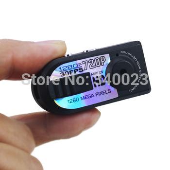 New 720P Mini Q5 Thumb DV Video TF Card PC Hidden Mini Sports Camera Record Motion Detection 30fps Small DV, Free Shipping,CM-4(China (Mainland))