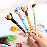 Free shipping 100 pcs Wholesale Slingshot Toy Pens 2014 HOT SALE Cartoon Ballpoint Pen Novelty ballpen Kawaii funny Stationery