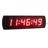 3'' Digital High HH:MM:SS Countdown Count Up Sport Timing LED Countdown Timer LED Race Clock For Marathon Running