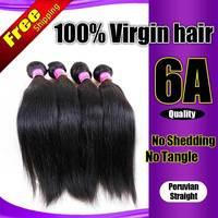 Unprocessed Peruvian Virgin Hair Straight rosa hair products 4PCS Human Hair Extension Grade 6A mocha hair Peruvian Straight