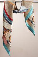 100% Silk Square Scarf Women Twill Mulberry Silk Shawl Wrap Hijab Foulard Fashion Brand Lady Scarves Bandana 90x90cm SF0273