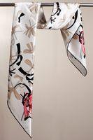 100% Silk Square Scarf Women Twill Mulberry Silk Shawl Wrap Hijab Foulard Fashion Brand Lady Scarves Bandana 90x90cm SF0271