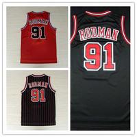 #91 Dennis Rodman Jersey,New Material Rev 30 Basketball jersey,Best quality,Authentic Jersey,Size S--XXXL,Accept Mix Order