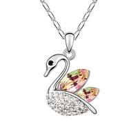 Nice Necklace Swan Pendant Crystal Women pendant necklace Brilliant Austria Elements Crystal Necklace
