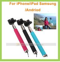 (10pcs monopod +10pcs clip holder) Universal Mobile Phone handheld Self-Timer camera monopod tripod  Clip For i5 Samsung Phone
