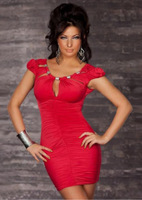 Details about Fashion Women's dress Party Club Sexy Lady Slim Skirt Red Even the dress