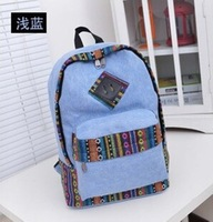 Free Shipping Fashion Ice Cream Canvas Banana Women Backpack School Bag Small Student BagPrinted Backpack Female Shoulder Bag