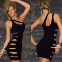 Details about Sexy dress Club Sleeveless Party Short Mini Slim Evening Dress