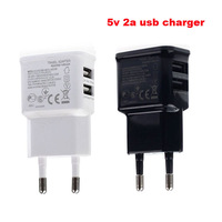 2 Ports AC 100-240v /dc 5v 2A USB Charger EU Adapter for Samsung  S4 S3 for iPhone 4S 5S for HTC One Nexus 4 for MOTO  10 PCS
