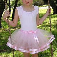 New Fashion Summer  Girl Tutu Skirt Girls Skirts 2014 Skirt Girl  With Elasticized Satin Waistband For 2-8 Years Old