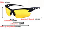 Night Vision Sunglasses Polarized Men Sun Glasses Yellow Driving Eyewear Driver Eyeglasses For Male Driver,2014 New