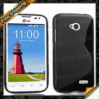 For LG L65 S type tpu case, New High Quality S-line TPU Gel Case Cover For LG L65 Dual D285