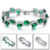 2014 Newest arrival  crystal 3A zircon  bracelet platinum plated luxury gift women noble jewelry N926