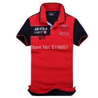 spring 2014 Brand Mens Slim Fit Shirts For Men Aeronautica Militare Air Force One Brand Po lo Shirt Short Sleeve T Shirt 8878
