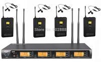 MICWL 4x100 frequency  Wireless Karaoke Microphone Mic Set - 4 Bodypack with Lavalier