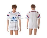2014-2015 Olympique Lyon home top thai soccer jerseys,soccer uniform,trainning jerseys 100% embroidery