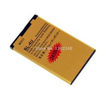 BL 4U 2430MAh Golden Battery for Nokia 8900 3120C 6212C 6600S E66 High Capacity Li-ion Gold BL-4U Business battery Free Shipping