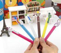 Free shipping 100 pcs Wholesale Cartoon Ballpoint Pen 2014 HOT SALE School Ball Pens Office Stationery Lovely Plastic Pens