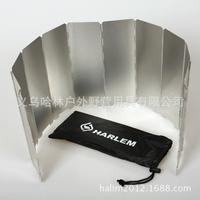 Ultralight folding windshield header boiler stoves outdoor sets 10 aluminum wind deflector windshield with bag